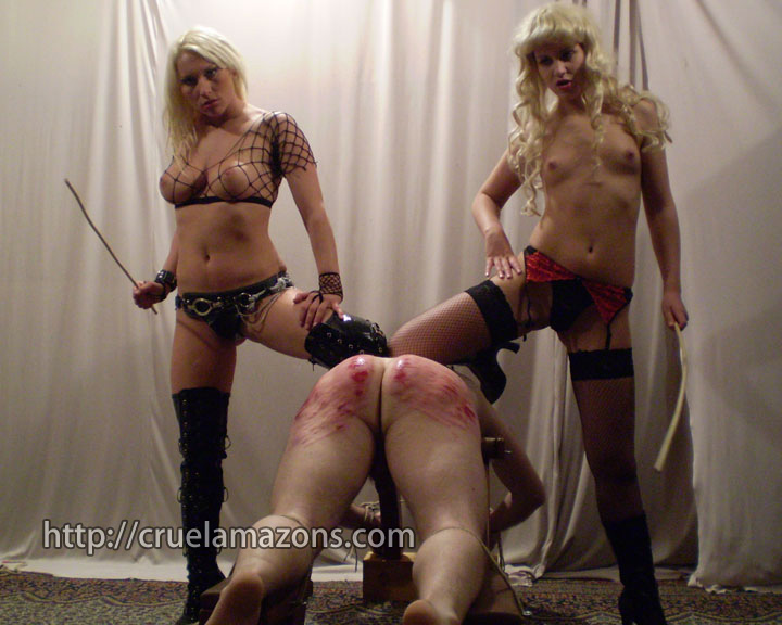 Strong femdom women fighting males